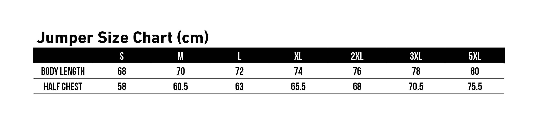 Jumper Size Chart