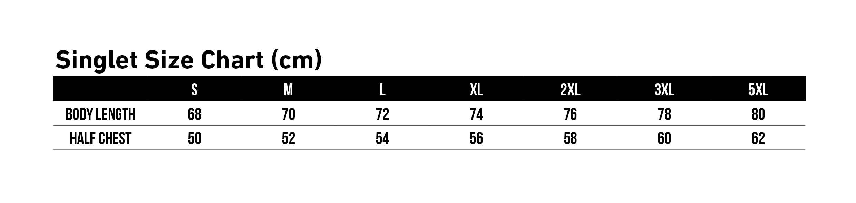 Singlet Size Chart